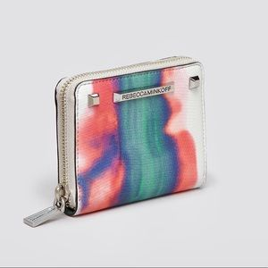 Rebecca Minkoff Tie Dye Lizard Embossed Zip Wallet